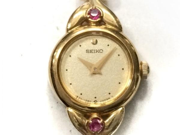 SEIKO(セイコー) 腕時計 ティセ 1E20-0430 レディース ラインストーン ゴールド