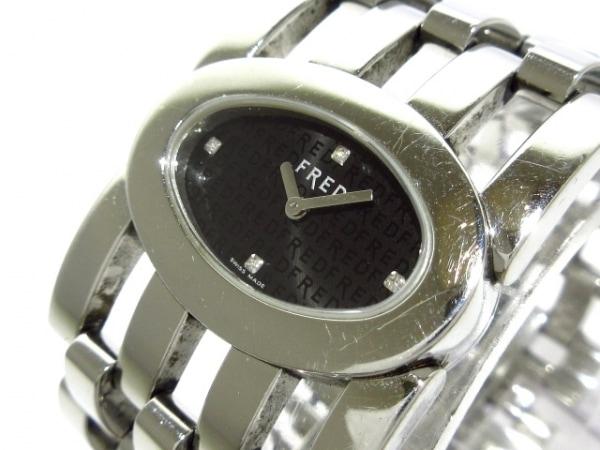 FRED(フレッド) 腕時計 FD032110 レディース 4Pダイヤインデックス 黒