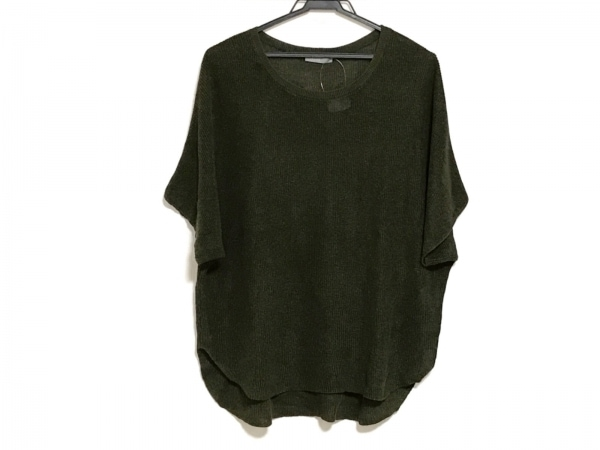 theory luxe(セオリーリュクス) 半袖セーター サイズ38 M レディース美品  カーキ