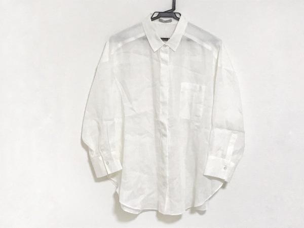 セオリーリュクス 七分袖シャツブラウス サイズ38 M レディース美品  白 シースルー