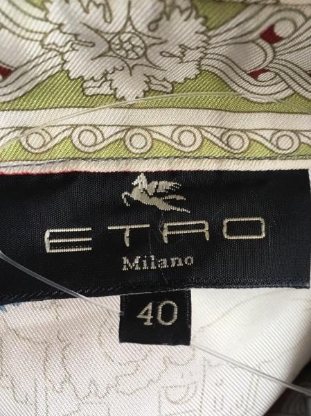 ETRO(エトロ) 長袖シャツブラウス サイズ40 M レディース オレンジ×グレー×マルチ