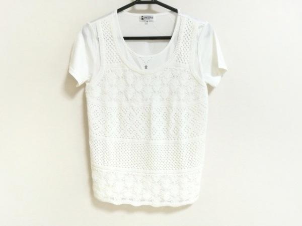 PICONE(ピッコーネ) 半袖Tシャツ サイズ38 S レディース新品同様  アイボリー
