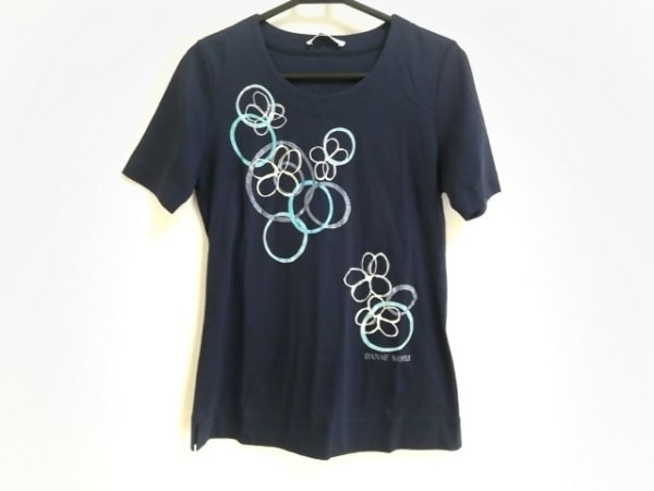 HANAE MORI(ハナエモリ) 半袖Tシャツ サイズM レディース美品  花柄/ラメ