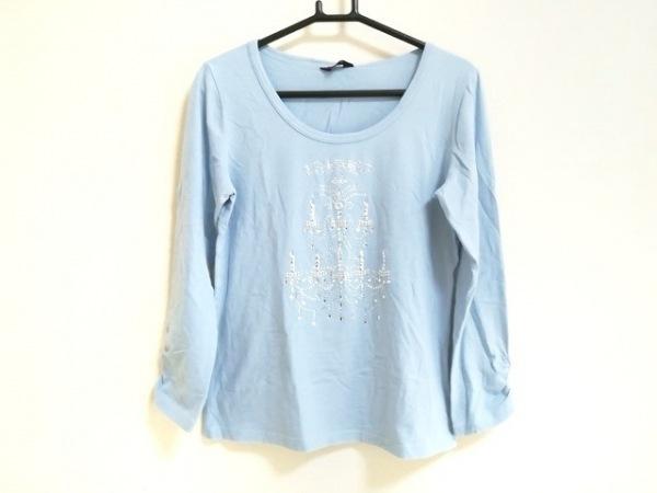 ユキトリイ 長袖Tシャツ サイズ38 M レディース美品  ライトブルー×シルバー×クリア