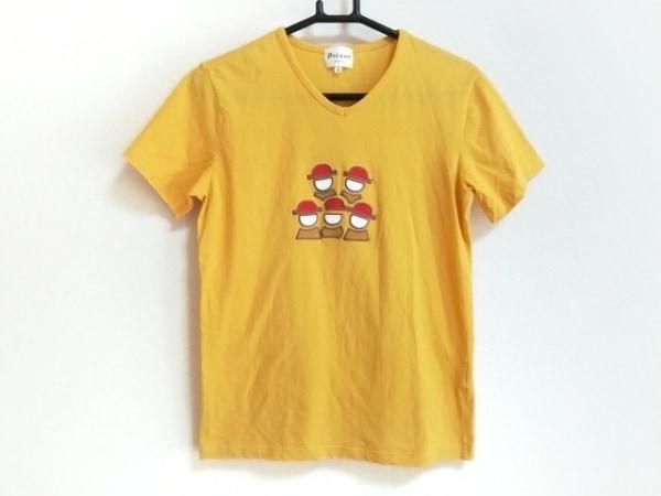 ピッコーネ 半袖Tシャツ サイズ1 S レディース美品  イエロー×レッド×マルチ