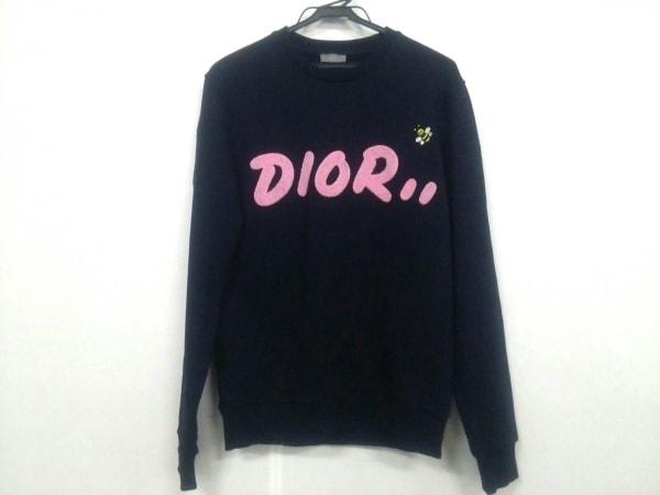 Dior HOMME(ディオールオム) トレーナー メンズ 923J620W1242 ネイビー×ピンク×黒