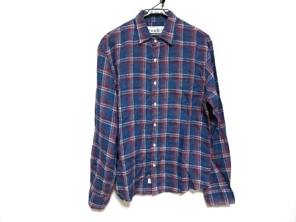 フランク&アイリーン 長袖シャツ サイズXS メンズ美品  ブルー×レッド×白