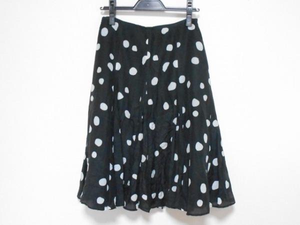 SONIARYKIEL(ソニアリキエル) スカート サイズ「38」 レディース 黒×白 ドット柄