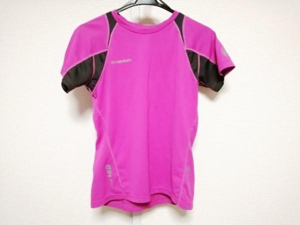 MAMMUT(マムート) 半袖Tシャツ サイズM レディース ピンク×ダークグレー