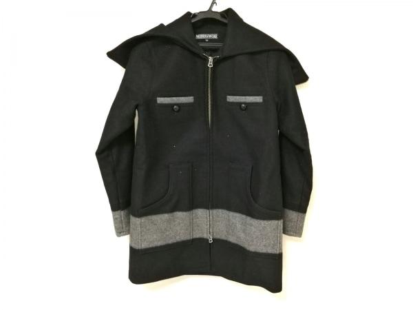 MODERN WORK(モダンワーク) コート レディース 黒×グレー 冬物