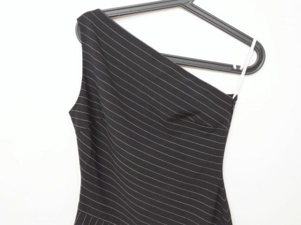 CELINE(セリーヌ) ワンピース サイズ38 M レディース美品  黒×白 斜めストライプ