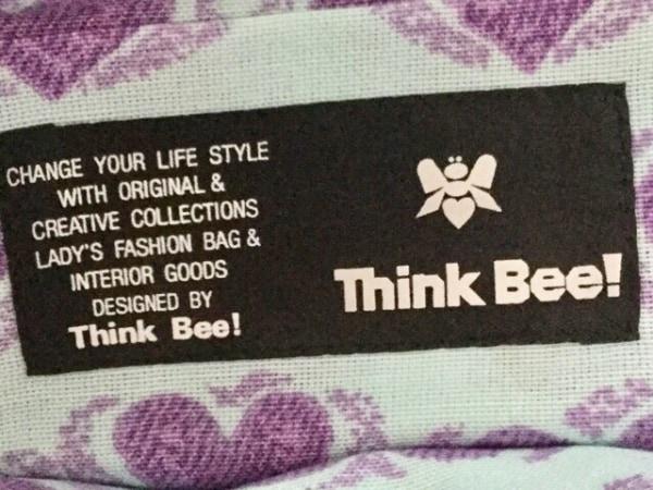 JustHeart(ジャストハート) トートバッグ パープル×マルチ Think Bee