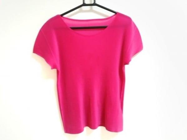 プリーツプリーズ 半袖カットソー サイズ3 L レディース美品  ピンク プリーツ