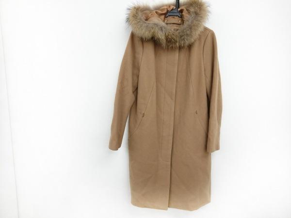 LOUNIE(ルーニィ) コート サイズ40 M レディース美品  ライトブラウン ファー/冬物