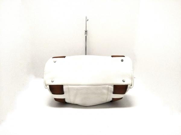 DISSONA(ディソーナ) ハンドバッグ 白×ブラウン レザー