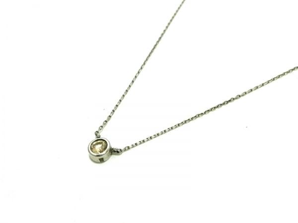 ノーブランド ネックレス Pt850×ダイヤモンド クリア 総重量:1.1g/.14刻印