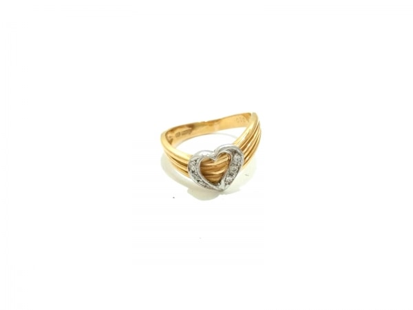 ノーブランド リング美品  K18×Pt900×ダイヤモンド クリア 総重量:3.6g/010刻印
