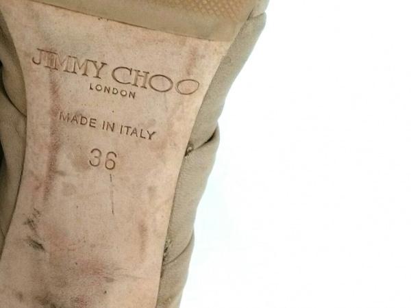 JIMMY CHOO(ジミーチュウ) サンダル 36 レディース ベージュ×ライトブラウン レザー