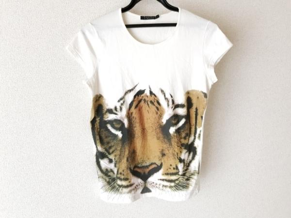 クリッツィアマグリア 半袖Tシャツ サイズ42 L レディース 白×ライトブラウン×黒