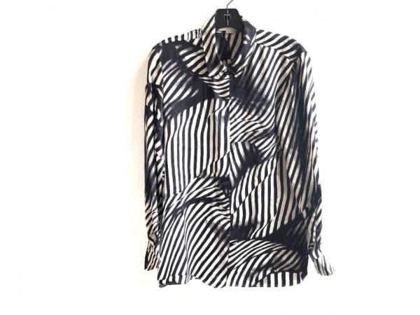 ステラマッカートニー 長袖シャツブラウス サイズ36 M レディース美品  黒×白 シルク