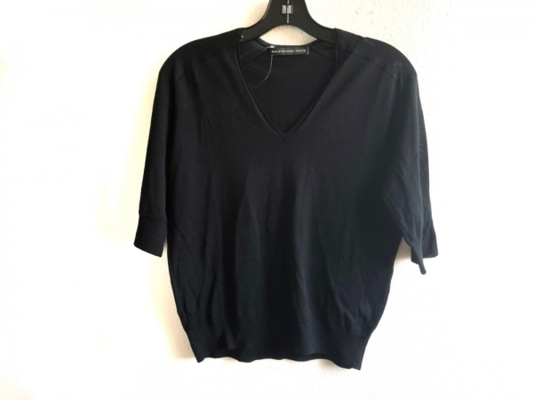 BALENCIAGA(バレンシアガ) 半袖セーター サイズ36 S レディース美品  黒