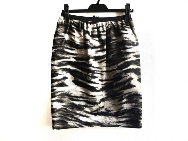 LANVIN(ランバン) スカート サイズ38 M レディース美品  黒×グレー River2013