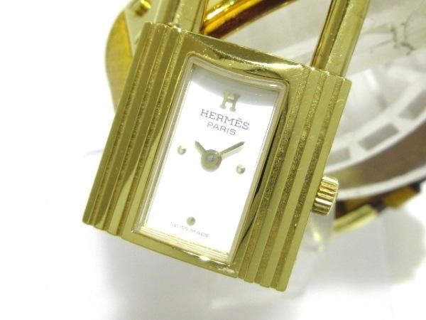 HERMES(エルメス) 腕時計 ケリーウォッチ - レディース 革ベルト/□A 白
