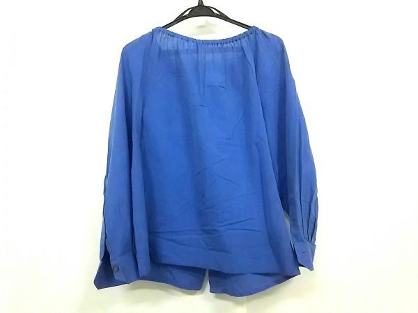 HERMES(エルメス) 長袖シャツブラウス サイズ40 M レディース ブルー