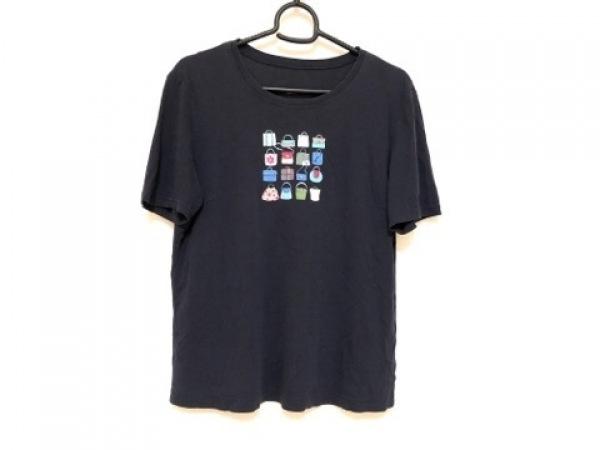 レリアン 半袖Tシャツ サイズ9 M レディース ダークネイビー×アイボリー×マルチ