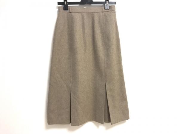 クリスチャンディオール ロングスカート サイズL レディース美品  ベージュ