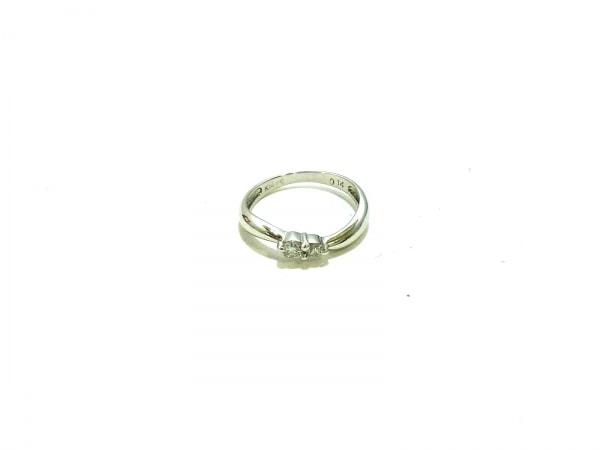 ノーブランド リング美品  K14WG×ダイヤモンド クリア 総重量:1.4g/0.14刻印