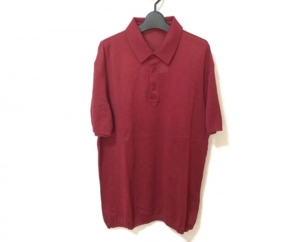 ErmenegildoZegna(ゼニア) 半袖ポロシャツ サイズM メンズ美品  ボルドー
