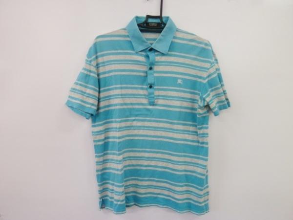 バーバリーブラックレーベル 半袖ポロシャツ サイズサイズ:3 メンズ美品  ボーダー