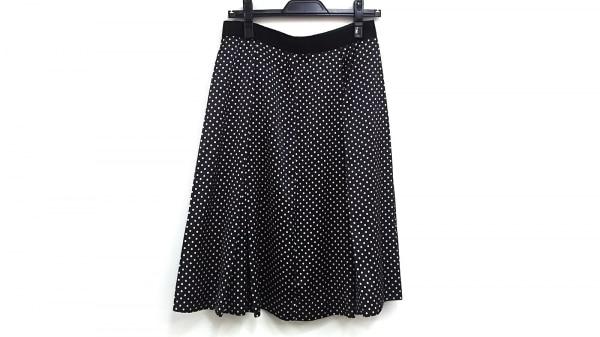 AMACA(アマカ) スカート サイズ40 M レディース 黒×白 ドット柄