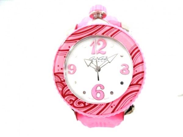 brand new a3f1b f1df2 GAGA MILANO(ガガミラノ) 腕時計美品 7020 レディース ラバーベルト 白
