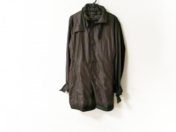 ムッシュニコル コート サイズ48 XL メンズ美品  ダークブラウン 冬物