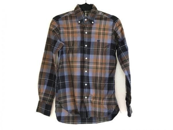 SCYE(サイ) 長袖シャツ サイズ36 S メンズ ライトブラウン×ライトブルー×グリーン