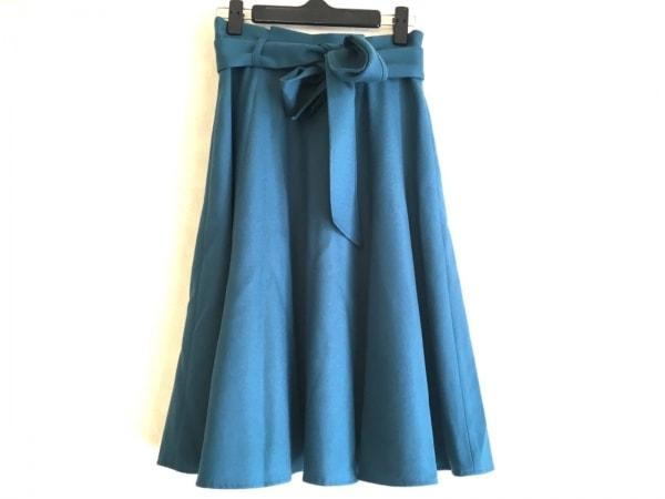 JUSGLITTY(ジャスグリッティー) スカート サイズ0 XS レディース美品  ブルーグリーン