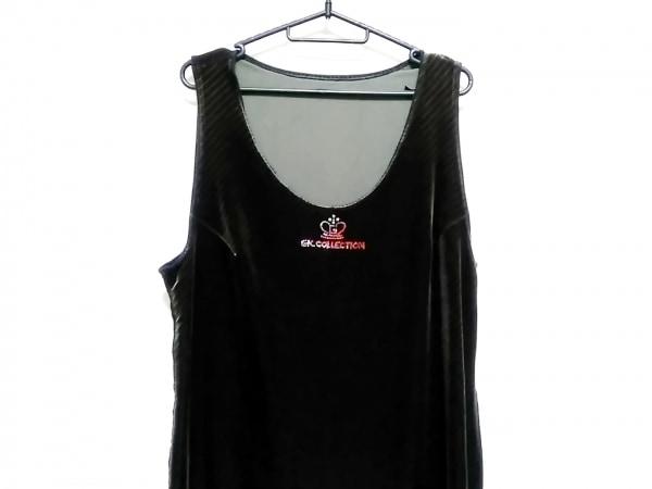 イタリヤ ワンピース サイズ13 L レディース美品  黒×ダークグレー