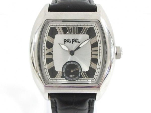 FolliFollie(フォリフォリ) 腕時計美品  - ボーイズ シルバー×黒