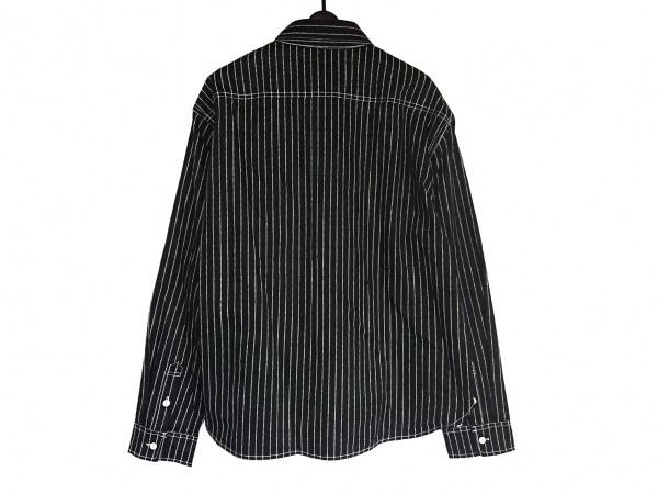 VANSON(バンソン) 長袖シャツ サイズXXL XL メンズ美品  黒×白 ストライプ