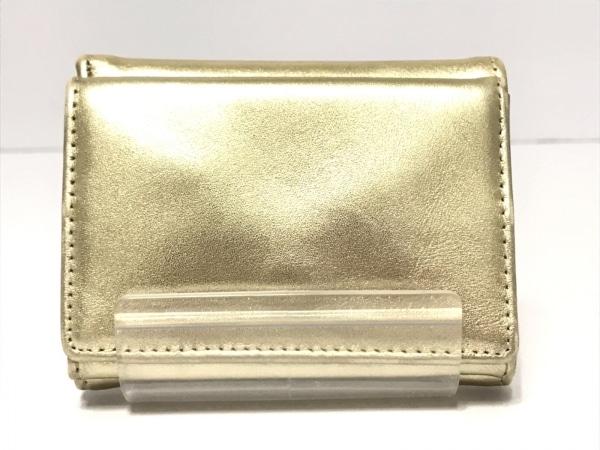 BECKER(ベッカー) 3つ折り財布 ゴールド ミニ財布 レザー