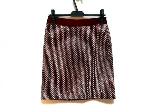 MILLY(ミリー) スカート サイズ2 S レディース レッド×黒×白
