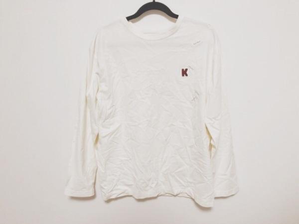 KarlHelmut(カールヘルム) 長袖Tシャツ サイズL L メンズ美品  アイボリー×ネイビー