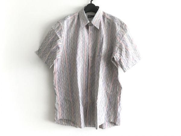 ミッソーニスポーツ 半袖シャツ サイズ52 メンズ グリーン×マルチ ストライプ