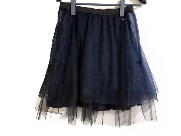 MUVEIL(ミュベール) スカート サイズ36 S レディース美品  ネイビー チュール