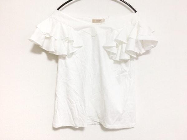 Maglie par ef-de(マーリエ) 半袖カットソー サイズ9 M レディース美品  白 フリル