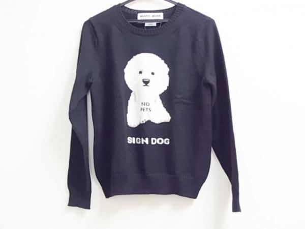ミュベールワーク 長袖セーター サイズ38 M レディース新品同様  SIGN DOG