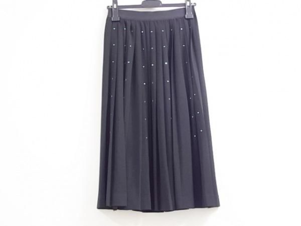 ミュベールワーク ロングスカート サイズ36 S レディース美品  黒×グリーン