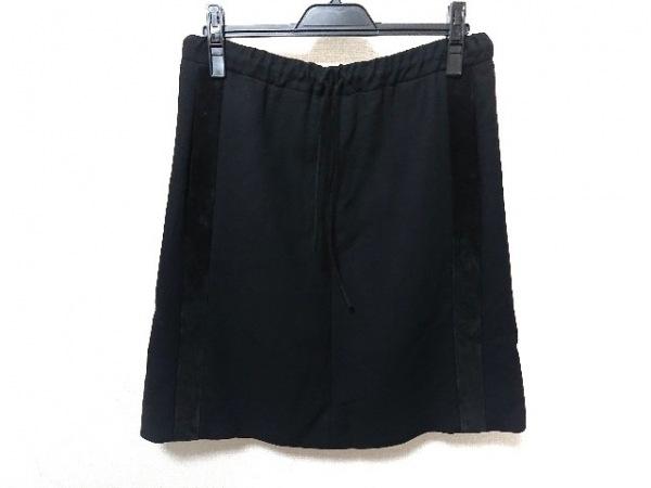 サルバトーレフェラガモ スカート サイズ40 M レディース美品  黒 一部レザー